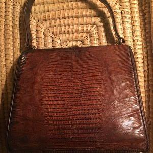 Vintage Tegu Lizard Kelly Handbag